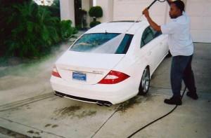 White 4 Door Benz