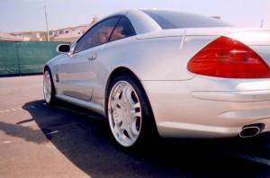2 Door Silver Benz