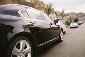 Blue Lexus 460