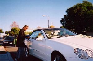 White 2 Door Benz