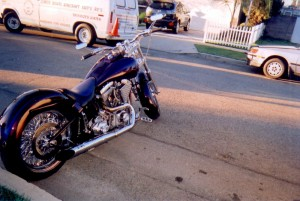 Purple Motor Bike